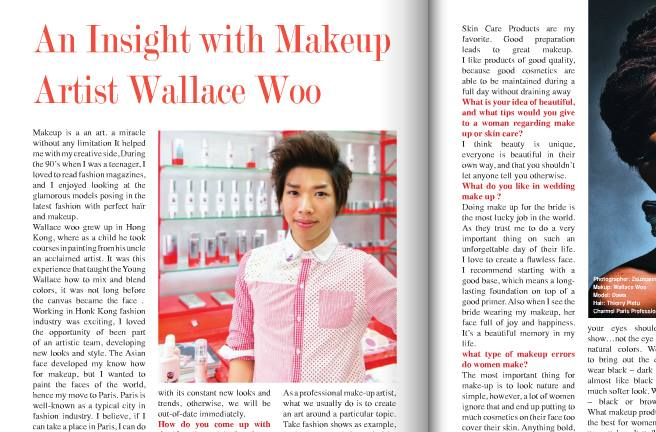 Wallace Woo Make up artist with Charmel Paris